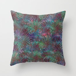 Crazed Palms Throw Pillow