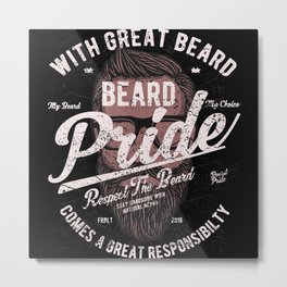 Barber Barber Beards Gift Metal Print