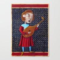 federico babina Canvas Prints featuring Il menestrello - L'Epoca di Federico II by Francesca Cosanti