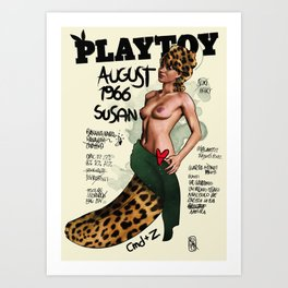 PLAYTOY - SUSAN 1966 - LIMITED ZEROSTILE FACTORY Art Print