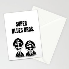 Super Blues Bros. (Black and White) Stationery Cards