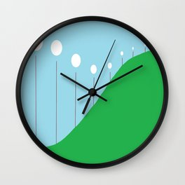 Abstract Landscape - Lights on the Hill Wall Clock