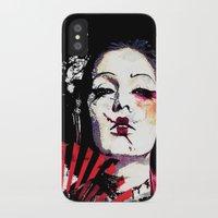 subaru iPhone & iPod Cases featuring Japanese Creepy Geisha by viva la revolucion