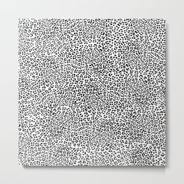 Black and White Snow Leopard Metal Print