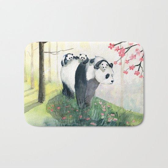 Panda family Bath Mat