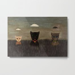 Three Bad Cats ( Tres Gatos Malos) by Gertrude Abercrombie Metal Print