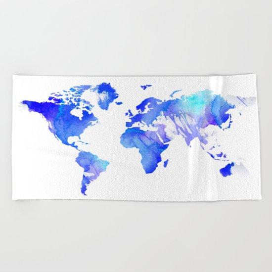 Watercolour World Beach Towel