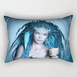 Aquarius zodiac fantasy circle Rectangular Pillow