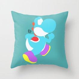Yoshi(Smash)Cyan Throw Pillow