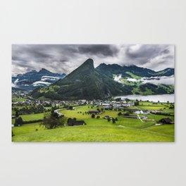 Schwyz Valley And Lauerzersee - Switzerland Canvas Print