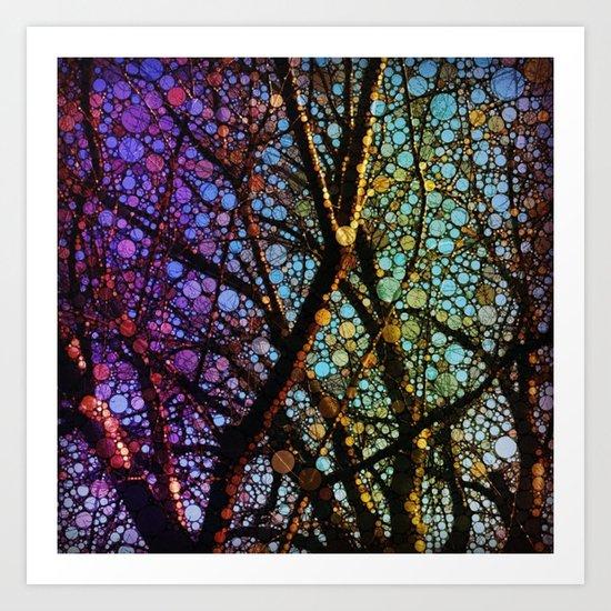 Colourful tree Art Print