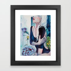 In Her Garden Framed Art Print