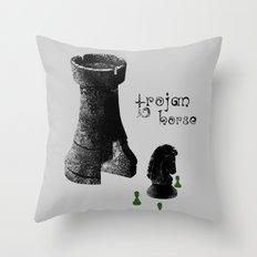 Chess Rook - Trojan Horse Throw Pillow