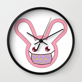 Safety Bunny Wall Clock