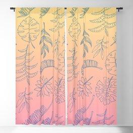 Botanical Illustration Blackout Curtain