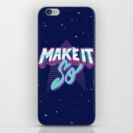 Boldly Go iPhone Skin