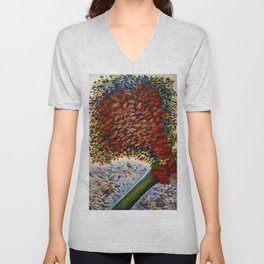 L'arbre Rouge (The Red Tree) by Seraphine Louis Unisex V-Neck