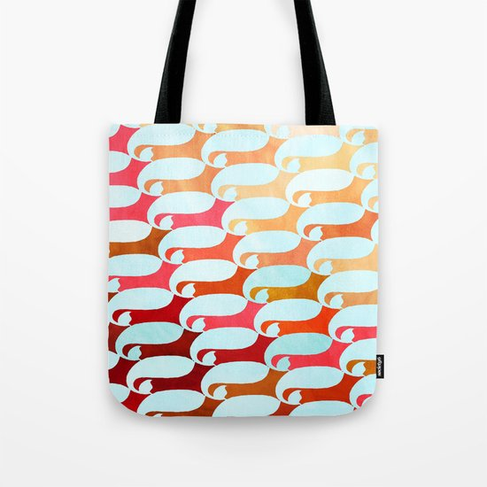 Blue Whale & Red Fox Tote Bag