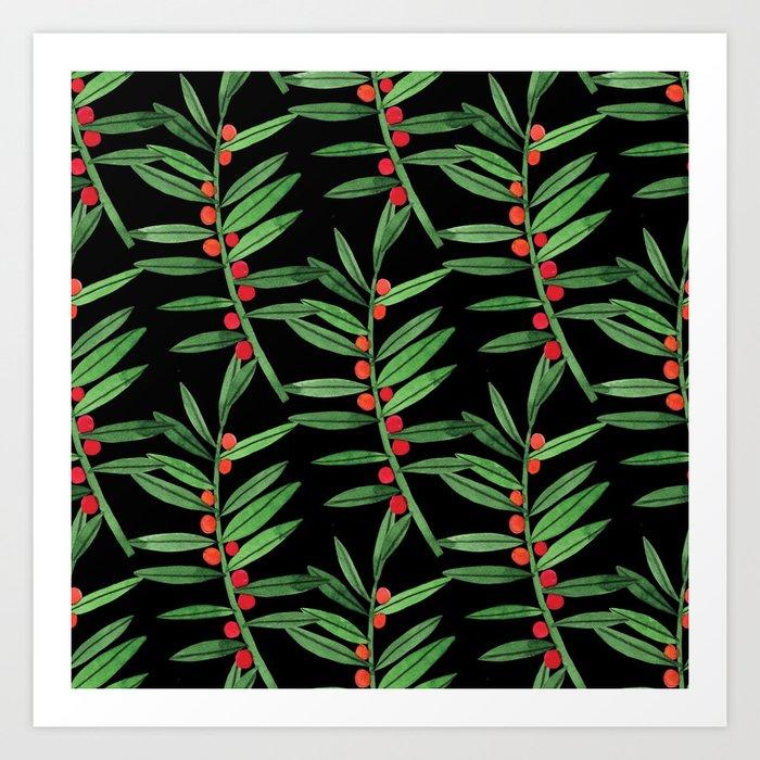 Botanic Watercolor Collection #10 Art Print