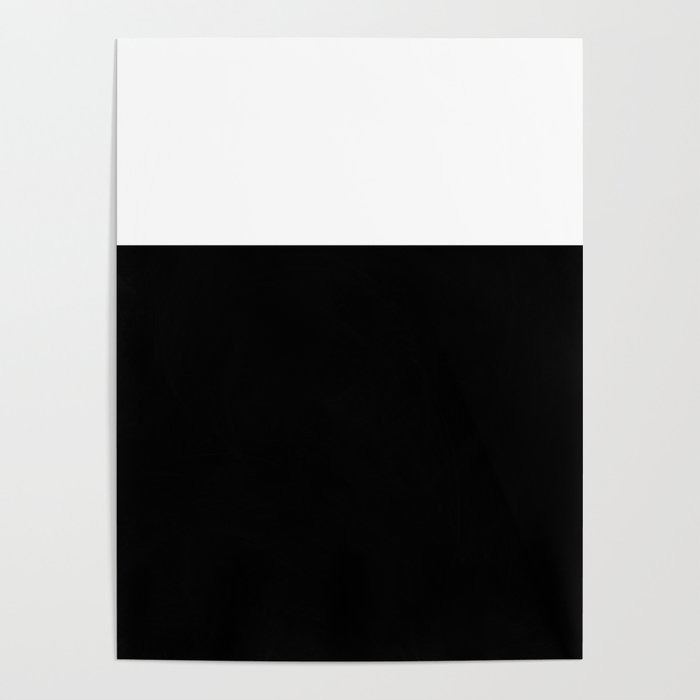 Color Block-Black and White Poster