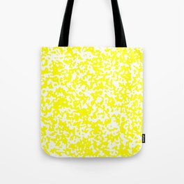 Small Spots - White and Yellow Tote Bag