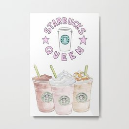 queen of coffee Metal Print