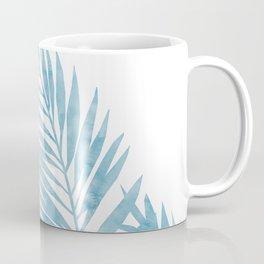 Palm Leaves Light Blue Coffee Mug