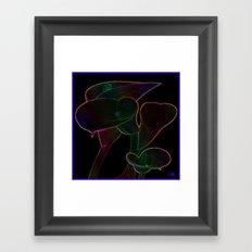 Glowing Lilies Framed Art Print