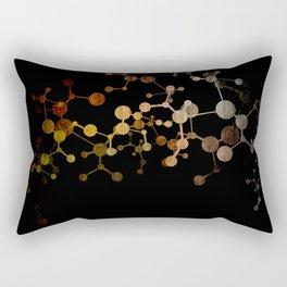 Metallic Molecule Rectangular Pillow