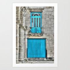 Cuba architecture Art Print