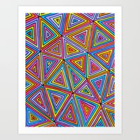 triangle Art Prints featuring Triangle by Neon Wonderland
