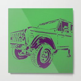 Green Bronco Metal Print