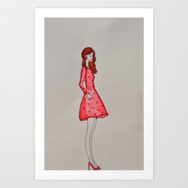 that girl in red Art Print