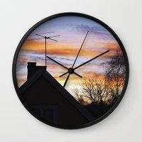 swedish Wall Clocks featuring Swedish Sunset by Matthew Phillips
