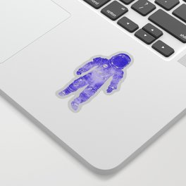 Rave Invaders PLUR Space Force Astronaut Sticker