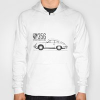 porsche Hoodies featuring porsche 356 by kartalpaf
