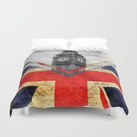 uk Duvet Covers featuring Flags - UK by Ale Ibanez