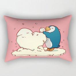 Penguin Be Mine Rectangular Pillow