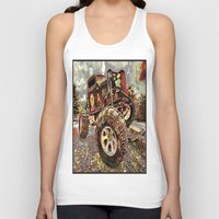 truck Tank Tops featuring mud truck by Vector Art
