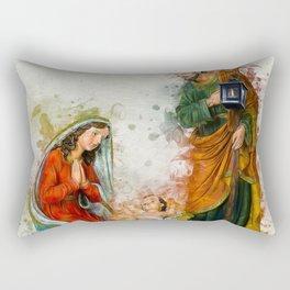 Jesus Is Born Rectangular Pillow