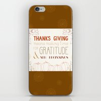 thanksgiving iPhone & iPod Skins featuring ThanksGiving by joannaciolek