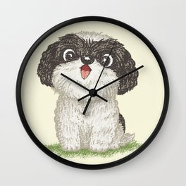 Shih Tzu happy Wall Clock