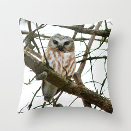 Bright eyed and bushy tailed Throw Pillow
