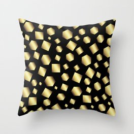 Gold Metallic Clusters Throw Pillow