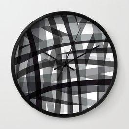 grey crossed stripes Wall Clock