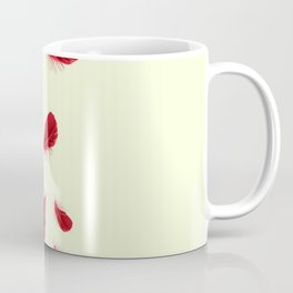 SURREAL FLOATING SCARLET RED FEATHERS Coffee Mug