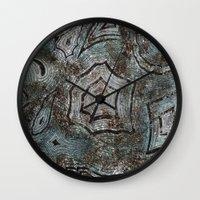 malachite Wall Clocks featuring Malachite by RubenBer