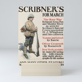 old placard scribners for march. circa 1900 Mini Art Print