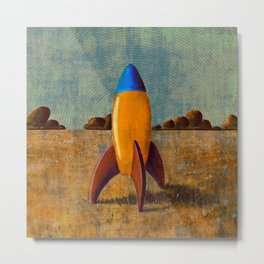 Toy Rocket Metal Print