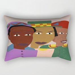 Three Friends by William H. Johnson Rectangular Pillow